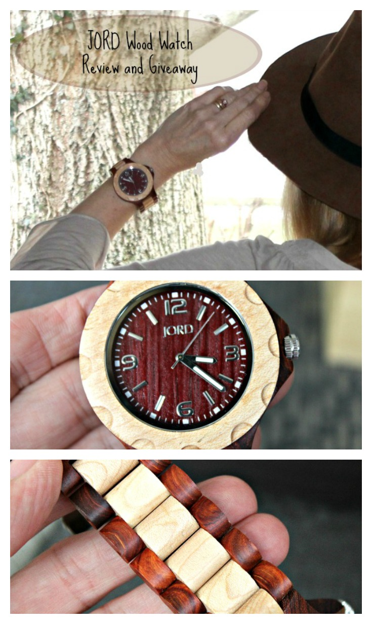 JORD Wood Watch Review and Giveaway Pinterest