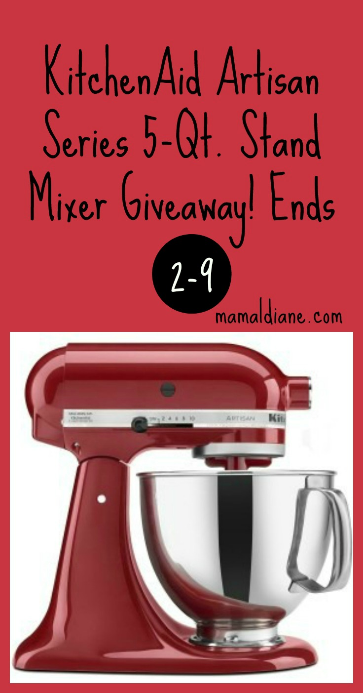 KitchenAid Artisan Series 5-Qt. Stand Mixer Giveaway! Ends 25 Pinterest