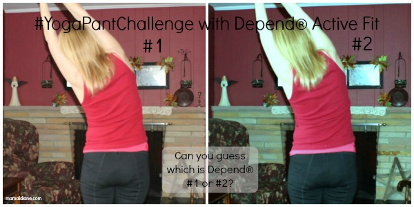 -#YogaPantChallenge with Depend® Active Fit Collage 2