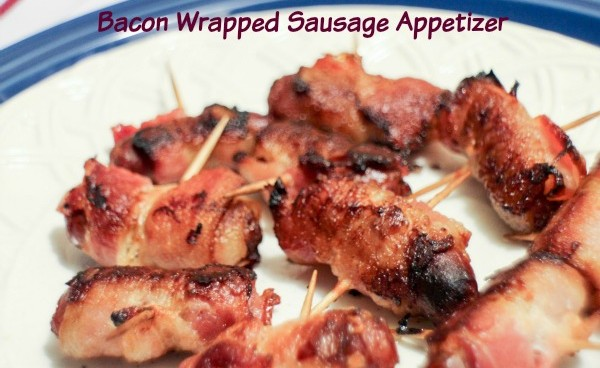 Bacon Wrapped Sausage Appetizer 7