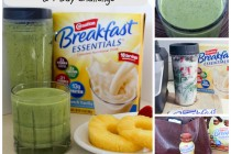 Pineapple Strawberry & Vanilla Super Smoothie & 7 Day Challenge Collage 2