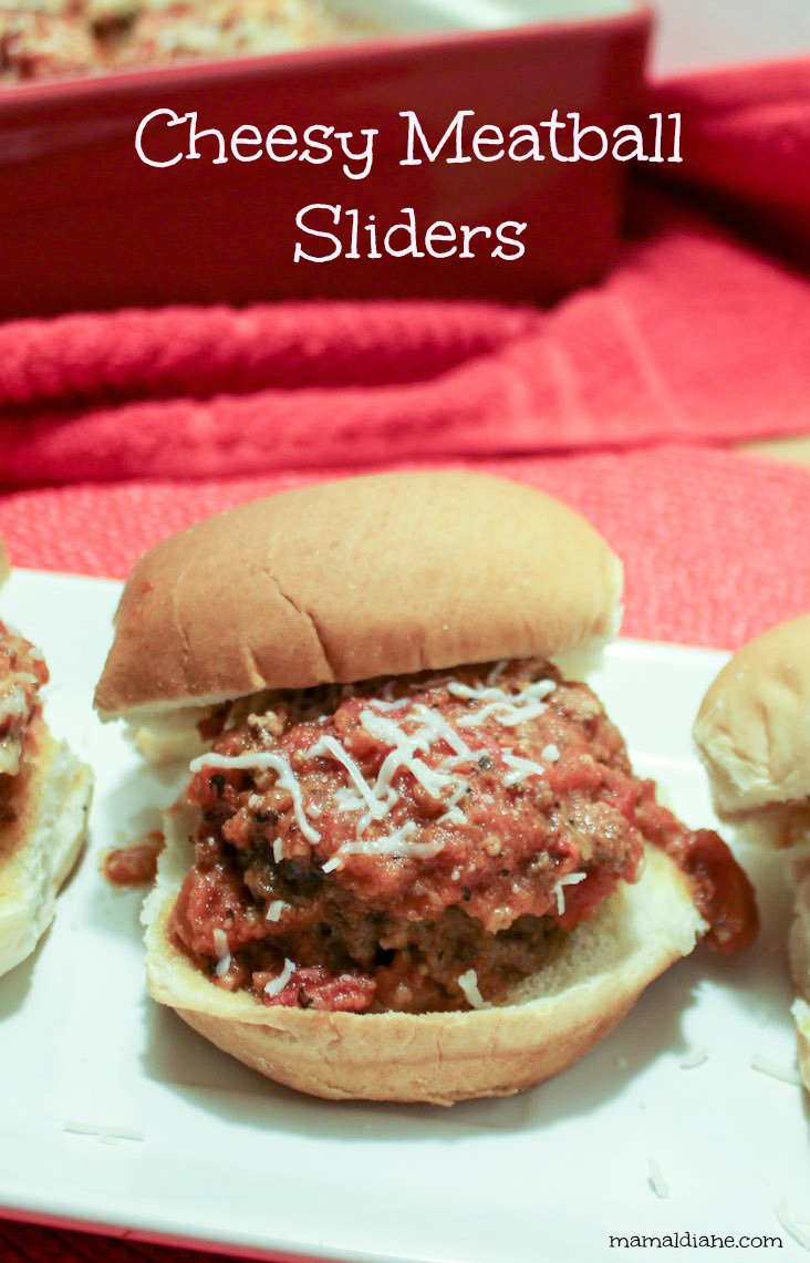 Cheesy Meatball Sliders – Mamal Diane