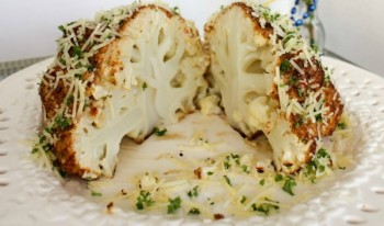 Mustard Parmesan Oven Roasted Head of Cauliflower i