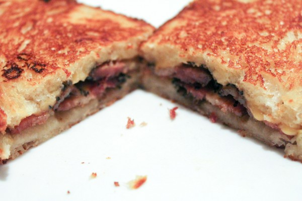 Grilled Bacon & Cheese Sandwich 045