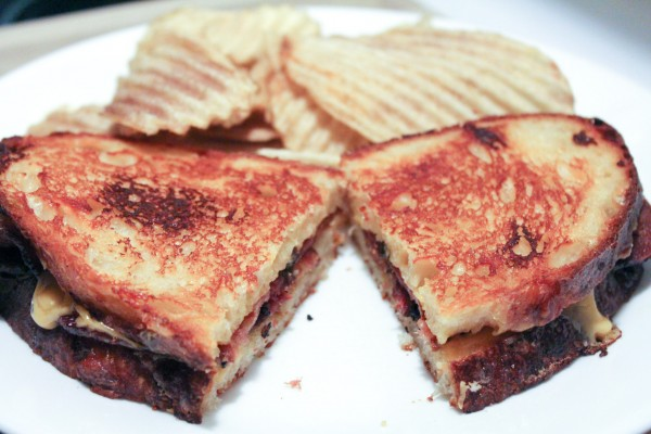 Grilled Bacon & Cheese Sandwich 048