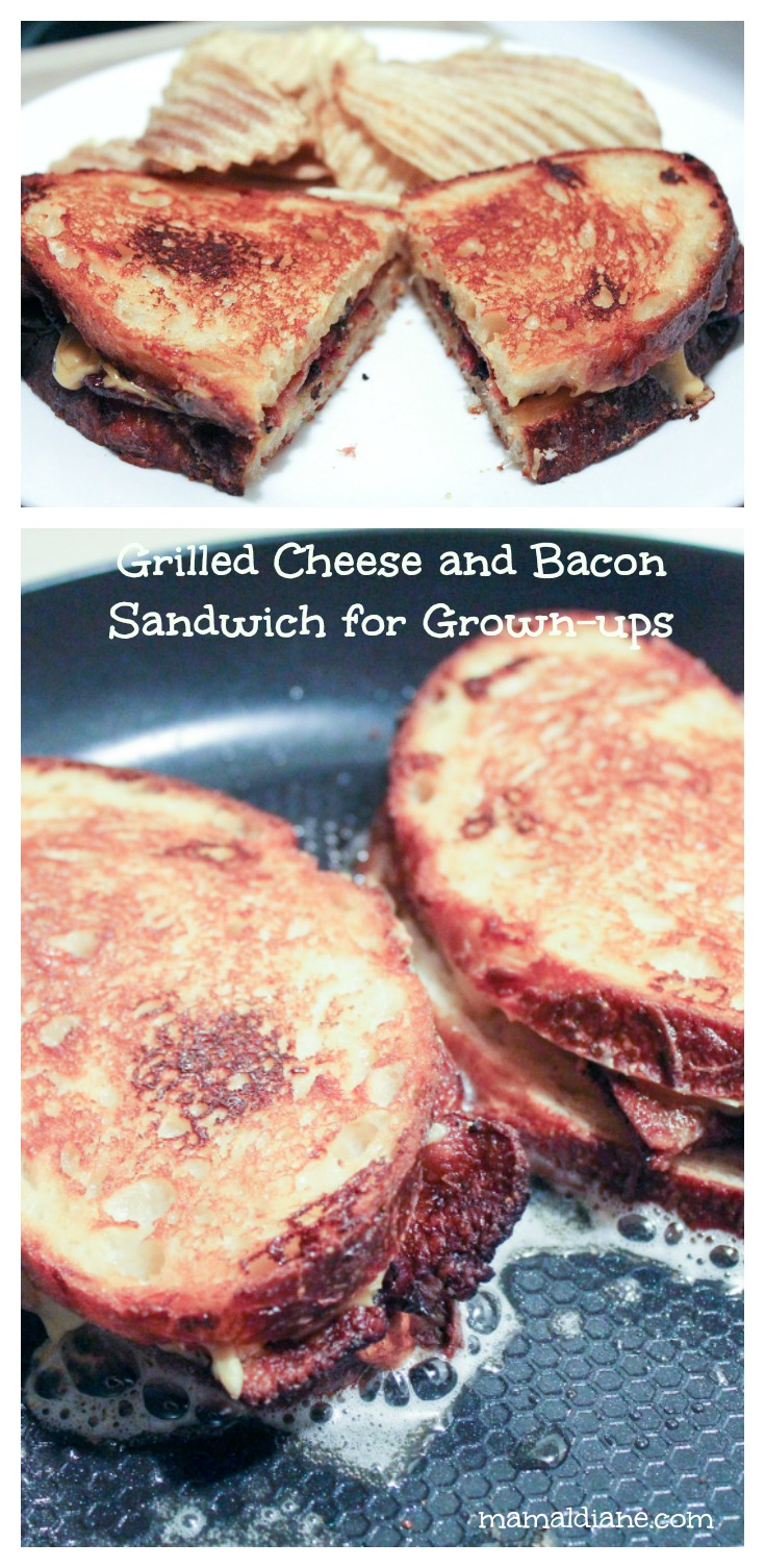 Grilled Cheese with Bacon Collage 2