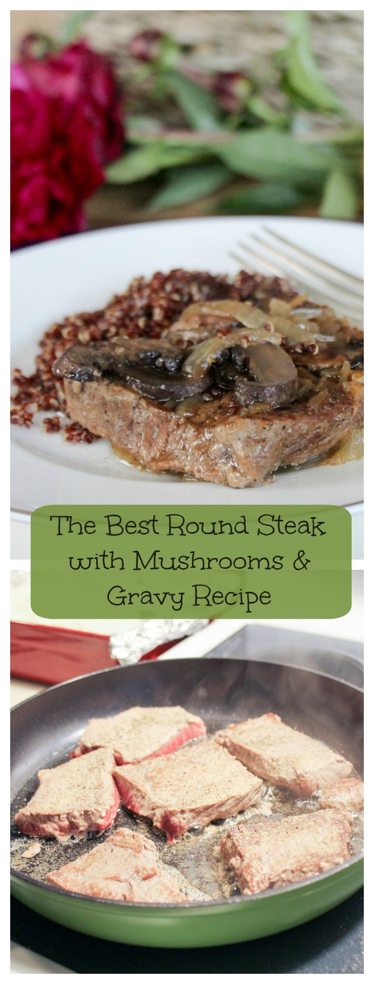 Round Steak with Mushrooms & Gravy Collage text