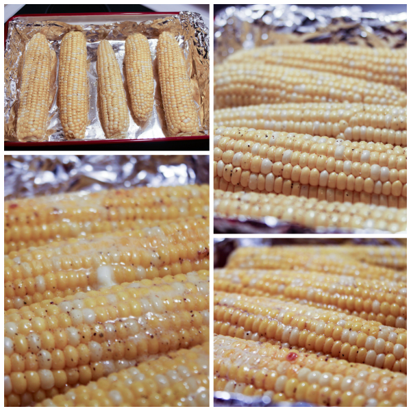 Simple Oven Roasted Corn on the Cob Collage