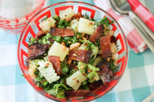 Kale Salad with a Pineapple Vinegarette Dressing 5