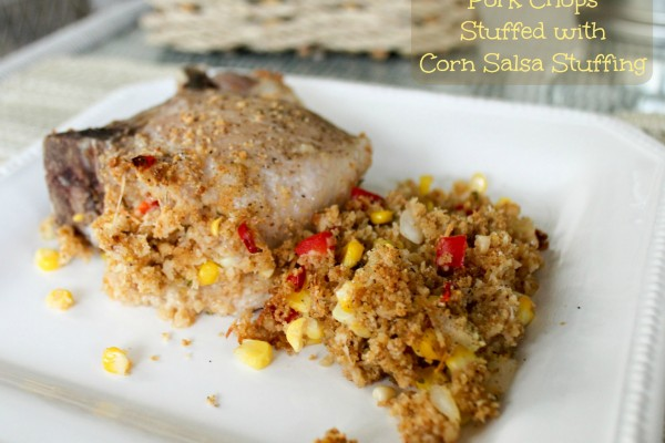 Pork Chops Stuffed with Corn Salsa Stuffing text2