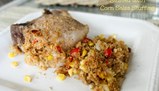 Pork Chops Stuffed with Corn Salsa Stuffing text2