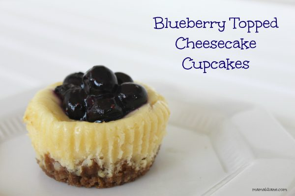 Blueberry Topped Cheesecake Cupcakes text