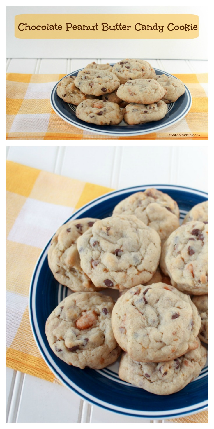 Chocolate Peanut Butter Candy Cookie Collage