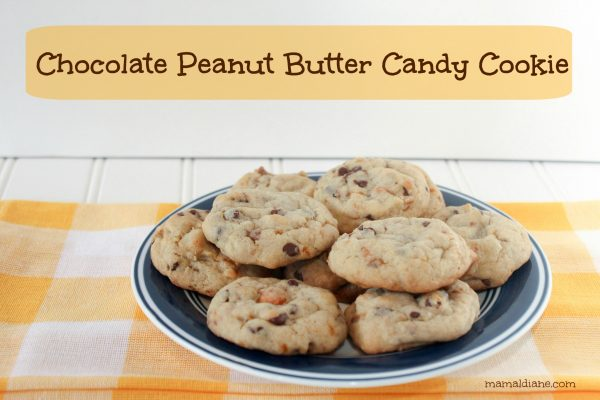 Chocolate Peanut Butter Candy Cookie text
