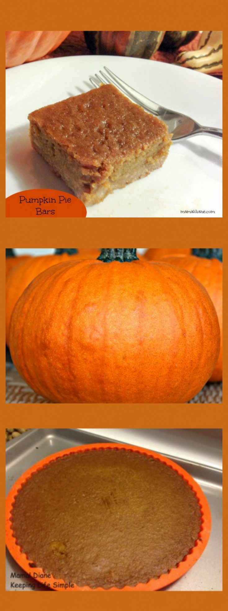 Pumpkin Pie Bars  Collage