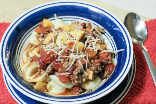 Summer Chili Over Tortellini 9