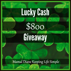 Lucky Cash $800 Giveaway