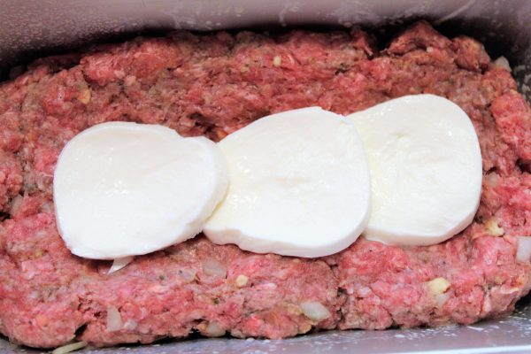 Mozzarella Cheese Stuffed Meatloaf