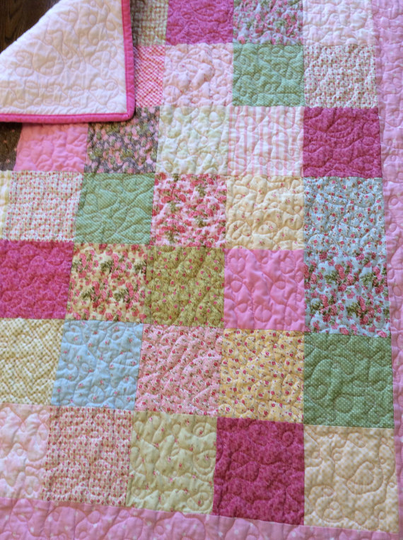 Pink Quilted Baby Quilt