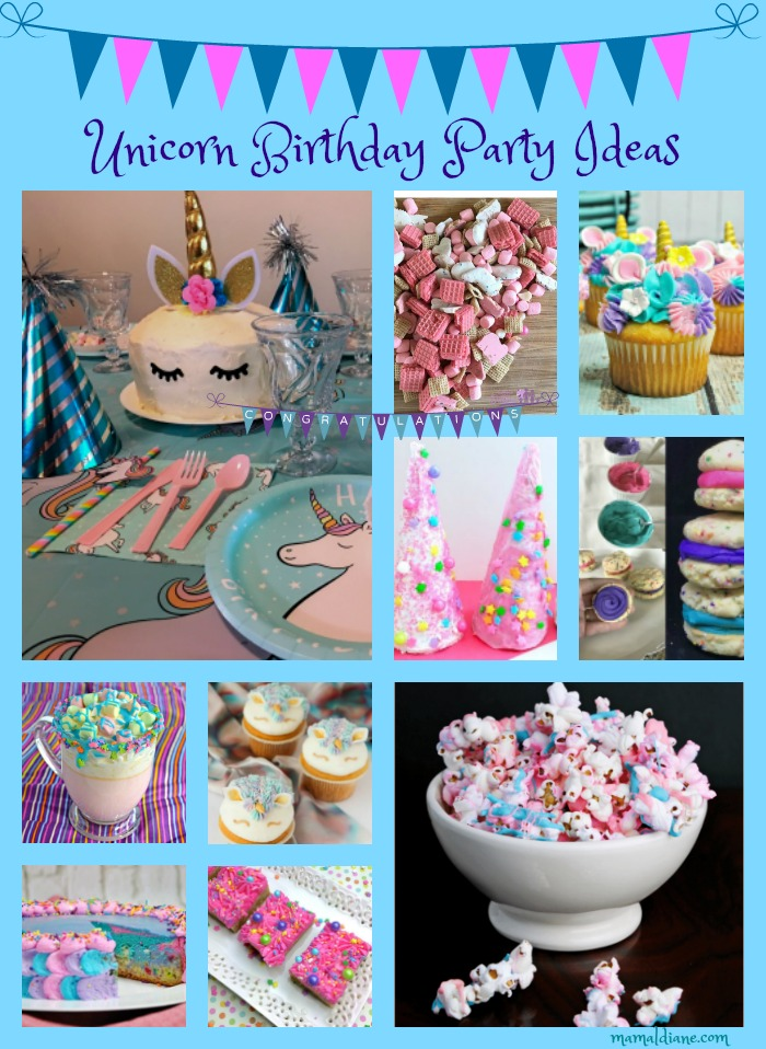 My Granddaughter Is Obsessed With Unicorns So In Preparation For Her 10th Birthday We Started Looking Unicorn Party Ideas