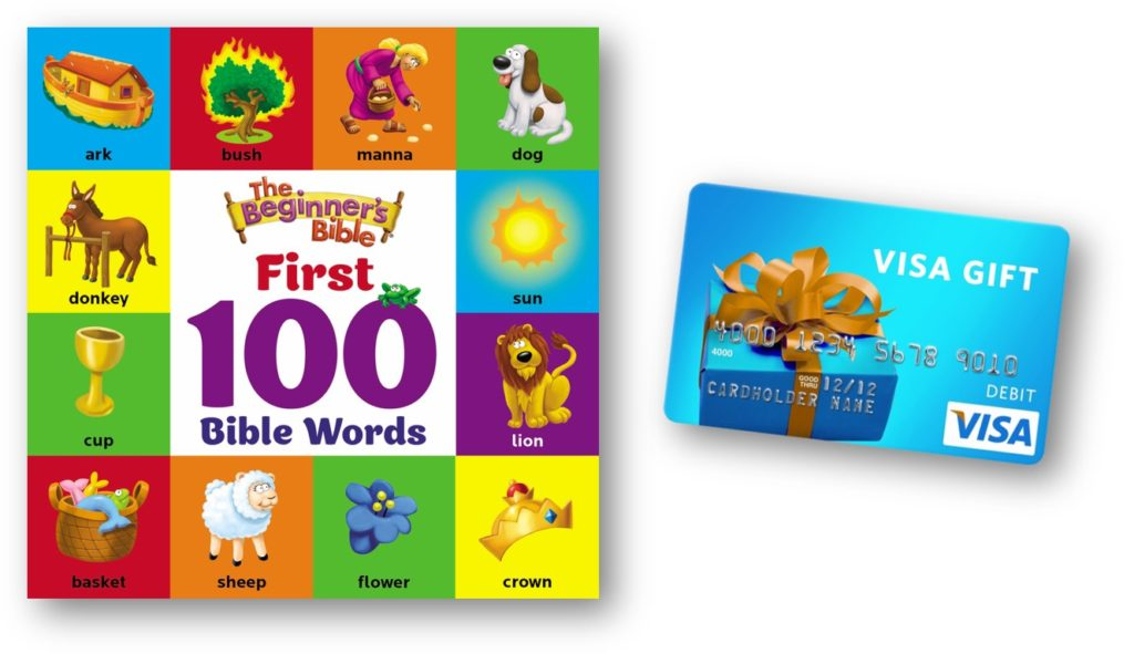 The Beginner's Bible First 100 Words Book & $50 Gift Card